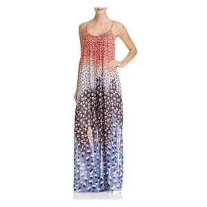 NIC + ZOE DAHLIA PRINT CHIFFON MAXI DRESS